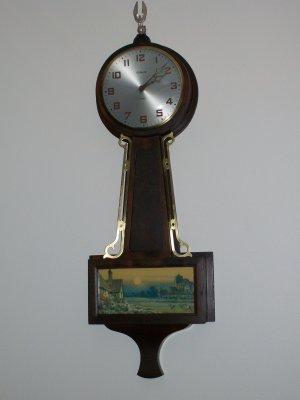 Gilbert Antique 8 Day Banjo Wall Clock