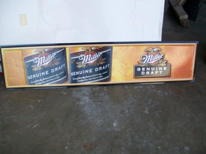 Miller Genuine Draft Metal Advertising Sign