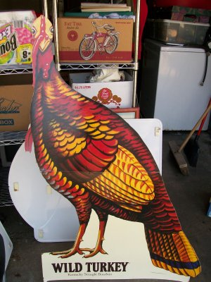 Wild Turkey Cardboard Advertising Standup