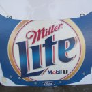 Miller Lite Nascar Advertising Cardboard Racing Hood Sign