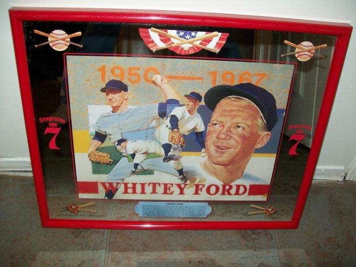 Seagrams 7 Whitey Ford Advertising Mirror