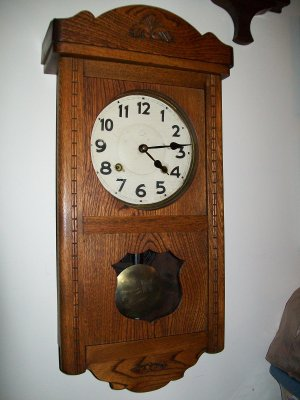 Antique English Oak Wall Clock