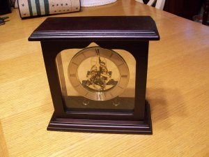 Skeleton Metal Mantle/Table Clock