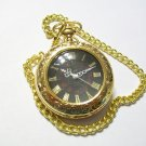 Gold Tone Quartz Mens Pocket Watch