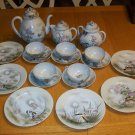 Antique Japanese 19pc Hand Painted Tea Set