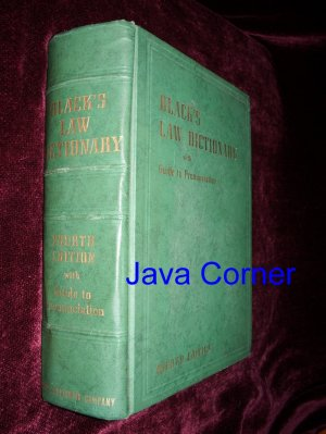 Black's Law Dictionary Fourth Edition, 1951