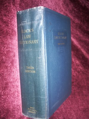Black's Law Dictionary Third Edition, 1933