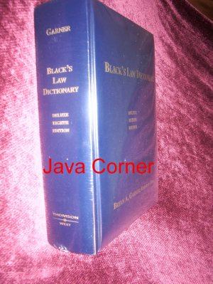 Black's Law Dictionary Deluxe Eight Edition
