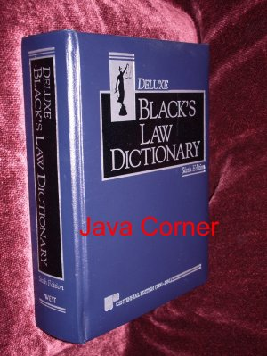 Black's Law Dictionary Deluxe Sixth Edition, 1990