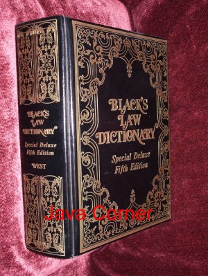 Black's Law Dictionary  Deluxe  Ffith Edition, 1979