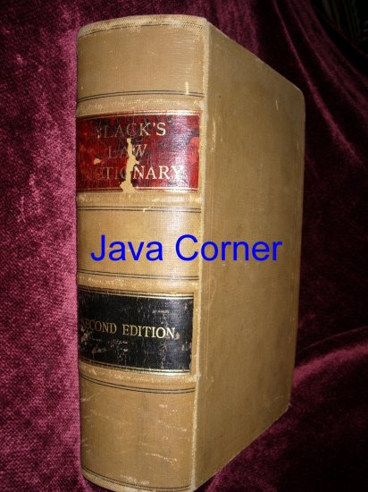 Black's Law Dictionary Second Edition, 1910