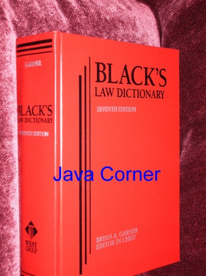 BLACK'S LAW DICTIONARY SEVEN EDITION, 1999