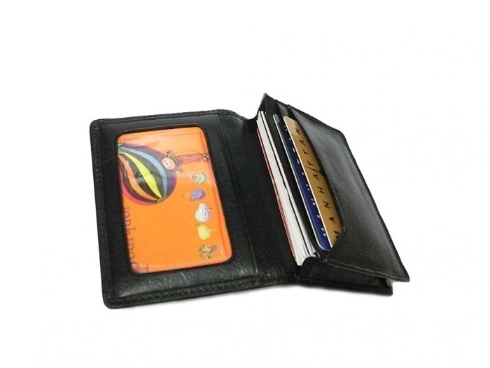 Genuine Leather Wallet Expandable Business Credit Card holder