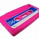 Cassette Tape Silicone Skin Case Cover for Apple iPhone 4 4G 4S Pink