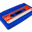 Cassette Tape Silicone Skin Case Cover for Apple iPhone 4 4G 4S Blue
