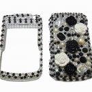 Bling Rhinestone Crystal Black Flower Case Cover for Blackberry 9700 9780 Bold B002