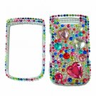 Bling Rhinestone Crystal Red Heart Case Cover for Blackberry 9800 Torch B001