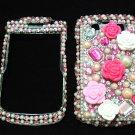 Bling Rhinestone Crystal Pink Flower Case Cover for Blackberry 9700 9780 Bold B004