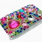 Bling Rhinestone Crystal Red Heart Case Cover for Blackberry 8520 8530 Curve RH