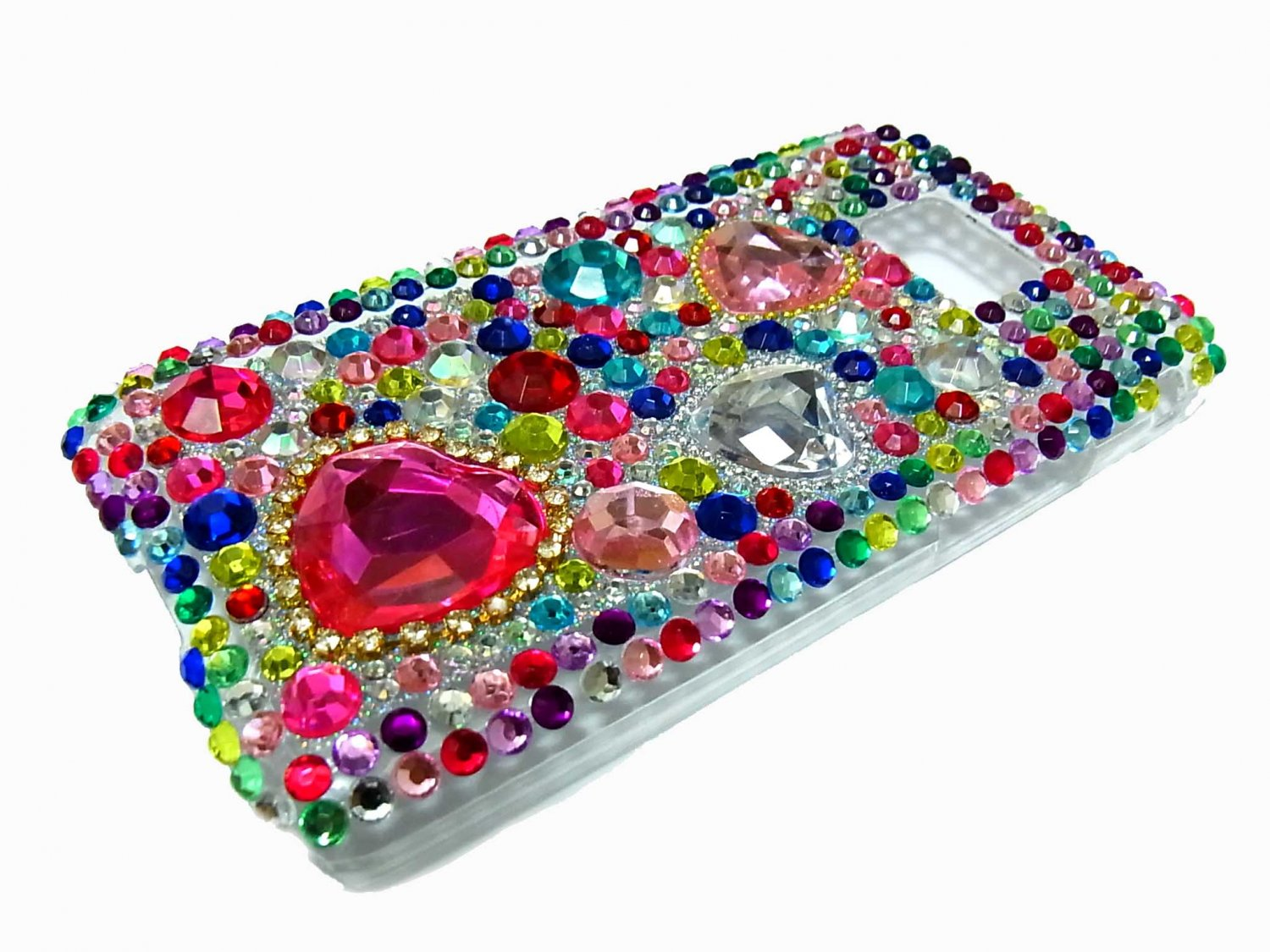 Bling Rhinestone Crystal Red Heart Case Cover for Samsung i9100 Galaxy S 2 II