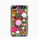 Bling Rhinestone Crystal Multi Color Flower Hard Case Cover for Apple iPhone 4 4G 4S