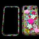 Bling Rhinestone Crystal Rainbow Flower Case Cover for Samsung i9000 Galaxy S RF