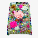 Bling Rhinestone Crystal Multi Flower Hard Case Cover for Apple iPod Touch 4 4G 4th Gen MF
