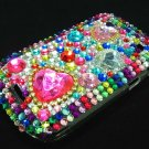 Bling Rhinestone Crystal Red Heart Case Cover for Blackberry 9900 9930 Bold RH