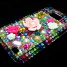 Bling Rhinestone Crystal Multi Color Flower Case Cover for Samsung i9100 Galaxy S 2 II MF