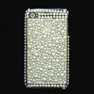 Bling Rhinestone Pearl White Back Hard Case Cover for Apple iPhone 4 4G 4S