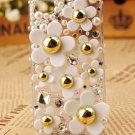 Bling Crystal Rhinestones Little Daisy Flower case cover for Apple iphone 4 4G 4S