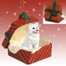 American Eskimo Red Gift Box Ornament