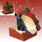 Australian Cattle Dog Blue Red Gift Box Ornament
