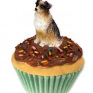 Australian Shepherd Brown Pupcake Trinket Box