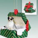 Australian Shepherd Blue Green Gift Box Ornament