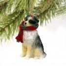 Australian Shepherd Blue Christmas Ornament