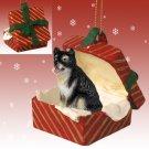 Alaskan Malamute Red Gift Box Ornament