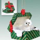 Bichon Frise Green Gift Box Ornament