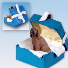 Irish Setter Blue Gift Box Ornament