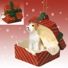 Wire Haired Fox Terrier Red Gift Box Ornament
