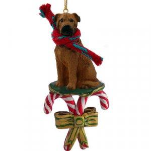 Bull Mastiff Candy Cane Ornament