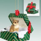 Border Terrier Green Gift Box Ornament