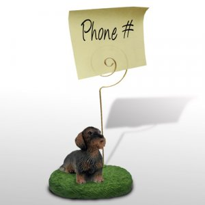 Wire Haired Dachshund Memo Holder