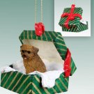 Norfolk Terrier Green Gift Box Ornament