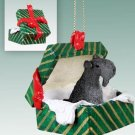 Kerry Blue Terrier Green Gift Box Ornament