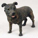 Staffordshire Bull Terrier, Brindle  Standard Figurine