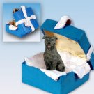 Staffordshire Bull Terrier, Brindle  Blue Gift Box Ornament