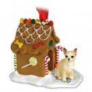Chihuahua, Tan & White Ginger Bread House