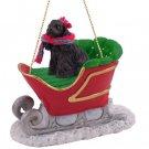 Cocker Spaniel, Black Sleigh Ride Ornament