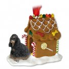 Cocker Spaniel, Black & Tan Ginger Bread House